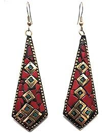Fashion Street Handmade Antique Tibetan Dangle & Drop Hook Earrings For Women & Girls