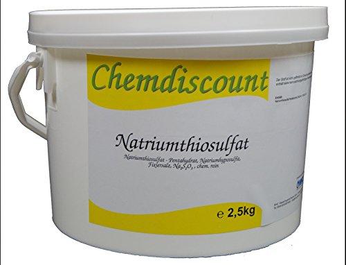 2,5kg Natriumthiosulfat (-penthydrat), Na2S2O3, Fixiersalz, chem. rein., versandkostenfrei!