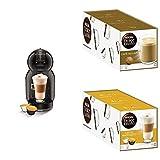 Nescafé Dolce Gusto Cream Set, Mini Me Maschine mit Latte Macchiato, Cappuccino, Au Lait Kaffeekapseln