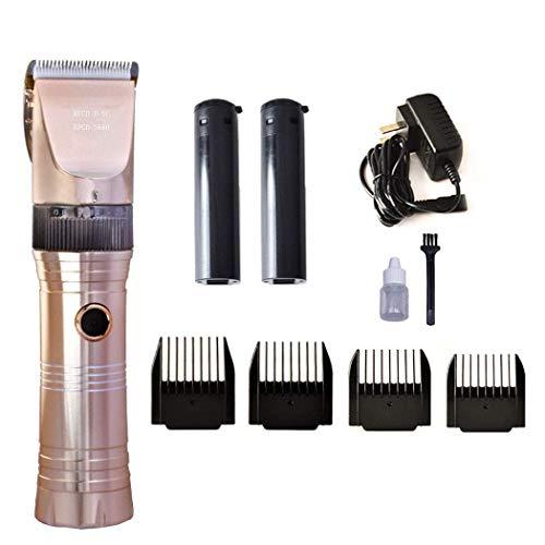 LXYU-Hair clipper Haarschneidemaschine Cordless, professionelle Haarschneidemaschine Set Wiederaufladbare Clippers Trimmer Bart Razor Herren Aluminium Klinge, Heimgebrauch (Herren-trimmer Clippers)
