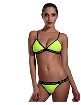 Costume da bagno delle signore Il vestito di due pezzi del triangolo del bikini di modo del costume da bagno Bikini...