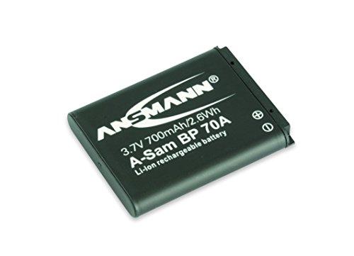 Ansmann 1400-0014 - A-Sam BP 70A Li-Ion, batería 3,7V/700mAh para cámara digital de fotos Samsung