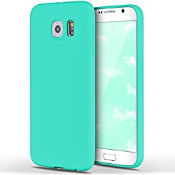 Funda Samsung Galaxy S6, Yokata Silicona TPU Pluma Ultra Delgado Ligero Elegante Suave Mate Carcasa Trasera Fantasía Caprichoso Kawaii Adorable Diseño Flexible Case Bumper Resistente a los Arañazos Anti Choque Anti-deslizante Soft Protectora Cover - Candy Azul