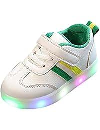 JiaMeng Zapatillas Luminosas LED iluminadas de Luces Transpirables para los  niños Zapatillas 8cc005e6e0d