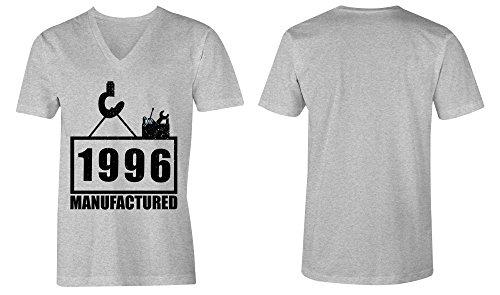 ... Manufactured 1996 - V-Neck T-Shirt Männer-Herren - hochwertig bedruckt  mit