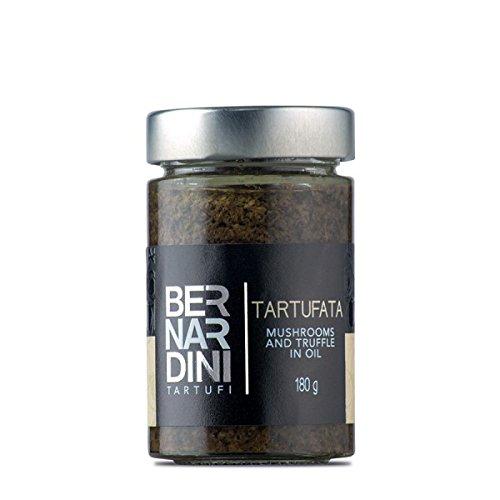 """Tartufata"" Black truffle (Tuber aestivum Vitt.) and mushroom sauce 180gr, Italian food specialty with Italian Truffles - Bernardini Tartufi"