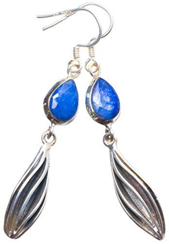 Schmuck Brighton Silber Sterling (StarGems(tm) 925er Sterling Silber Sapphire Einzigartig Handgefertigt Ohrringe 5,72cm Blue X4135)