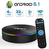 Android TV BOX, T95Q Android 8.1 TV BOX 4 GB RAM 32 GB ROM Amlogic S905X2 Quad-core Cortex-A53 HDMI 2.1 4K risoluzione H.265 2.4GHz e 5GHz Dual Band WiFi Bluetooth 4.1 Smart Box