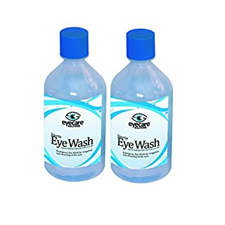 Steroplast Sterowash Saline Eye Wash Solution - 2 x 500ml Bottles