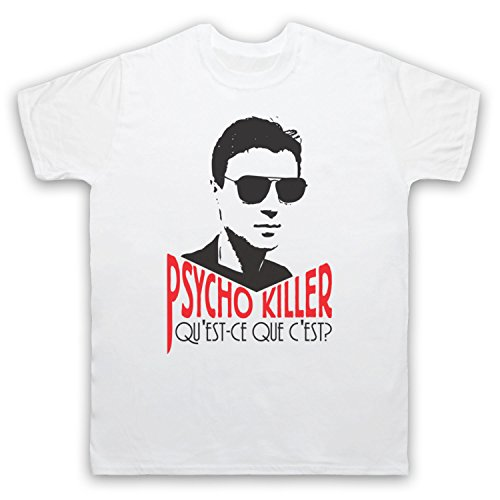 Inspiriert durch Talking Heads Psycho Killer Unofficial Herren T-Shirt Weis