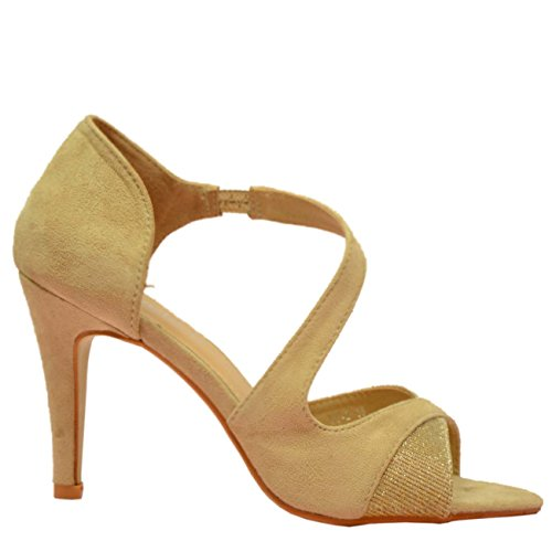 Cucu Fashion ,  Damen Peep Toes Beige
