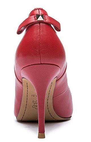 Lady talons d'Angleterre au printemps/Cuir d'agneau cuir chaussures femme/Chaussures à talon A