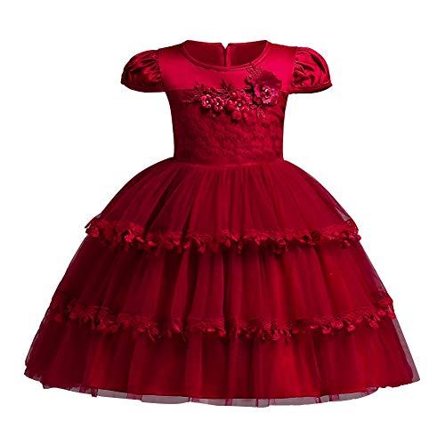 Shiningup Mädchen Formale Party Kleider 3D Blume Kuchen Prinzessin Tutu Kleid Abend Hochzeit Brautjungfer Taufe Kleid