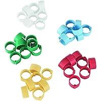 Kerbl Anillas de plástico 8mm, diversos colores, 5 x 20 uds. en blíster