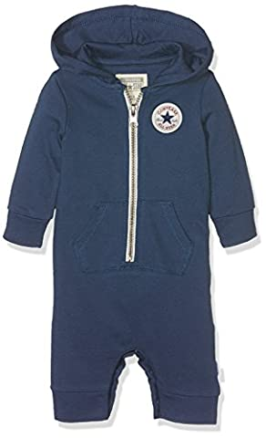 Converse Baby-Mädchen Kapuzenpullover C.T.P Core Coverall Hoodie, Blue (All Star Navy), 74