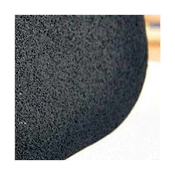 Healifty Esponja Facial de Konjac Esponja Facial de Lmpieza de Carbón de Bambú Natural para Cara de Limpieza Negro