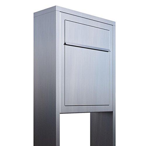 Standbriefkasten, Design Briefkasten Base Stand Edelstahl - Bravios