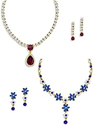 Zaveri Pearls Set of 2 Combo Necklace Set For Women - ZPFK6290