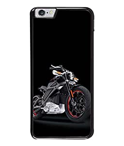 PrintVisa Black Harley High Gloss Designer Back Case Cover for Apple iPhone 6 Plus :: Apple iPhone 6+