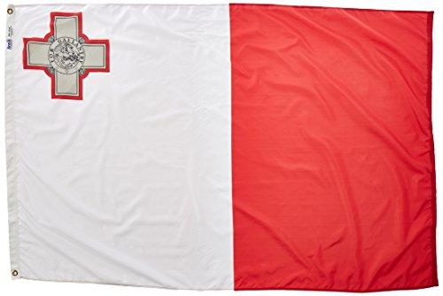 annin-flagmakers-195496-nylon-solarguard-nyl-glo-malta-flag-4-x-6-