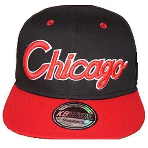 KB Ethos Chicago Casquettes Snapback, Rétro Vintage Ajustée Visière Plate Hip Hop TYGA Casquettes De Baseball