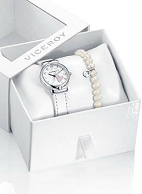 Conjunto Reloj Viceroy Niña Comunión 40938-05 Perlas con Cruz