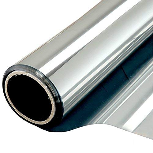 NewStar Sonnenschutzfolie | selbsthaftende Fensterfolie | UV-Schutz & Sichtschutzfolie, Kratzfest,Verdicken Materialstärke 0.1 mm (Silber, 90 x 400 cm)