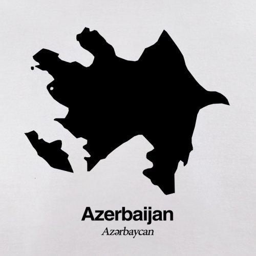 Azerbaijan / Aserbaidschan Silhouette - Damen T-Shirt - 14 Farben Weiß