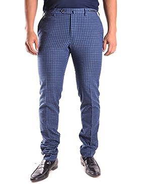 Pt01 Hombre MCBI247033O Azul Algodon Pantalón