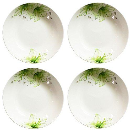 bandtie 4er Pack 4-Zoll Kleine Größe rund Teller Küche Gerichte chinesischen Jingdezhen Bone China Sojasoße Dessertteller Gericht Fashion Creative Keramik Tee Kaffee Tasse Untertasse grün