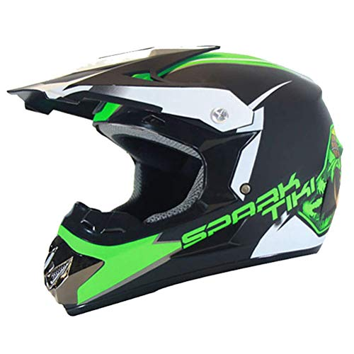 ZGYQGOO Unisex Helme Motorrad Fahrradhelm mit Handschuhmaske Brille