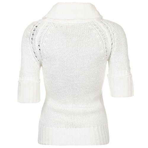 Lee Cooper Femmes Essentials Cowl Pull En Tricot Sweater Winter Blanc