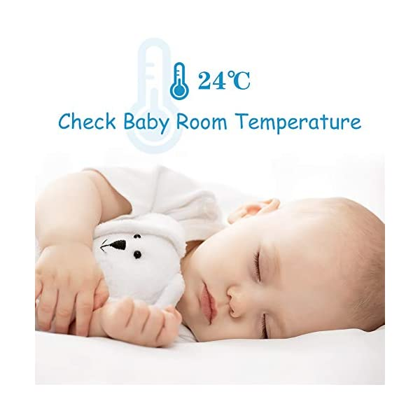 GHB Baby Monitor Video Baby Monitor with Camera 3.2 Inch Handheld Parent Unit Infrared Night Vision Room Temperature Display 2-Way Talk Baby Lullabies GHB Portable Parent Unit - with the wireless 3.2'' display, new parents can monitor their lovely baby clearly in the living room, kitchen or any place in the signal range Infrared Night Vision - you can keep eye on your baby at night in your bedroom and no need to go to the baby room, which avoids waking up your baby VOX Mode (power saving mode) - under VOX mode, if baby camera detects a sound over a certain threshold in the baby room, the video display will turn on automatically, and then will turn off when the baby room is silent to save the battery power 6