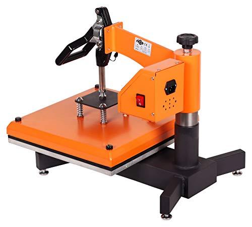 RICOO Transferpresse T538B-GS [38x38cm] T-Shirtpresse Heat Press Thermopresse Textilpresse für Transfer-Folie Transfer-Papier || Gelb/Orange || - 5
