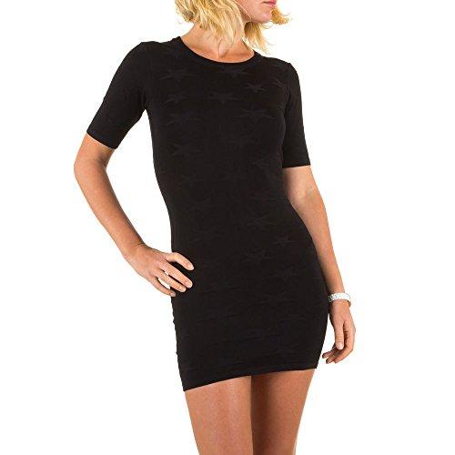 Feinstrick Mini Kleid Für Damen bei Ital-Design Schwarz
