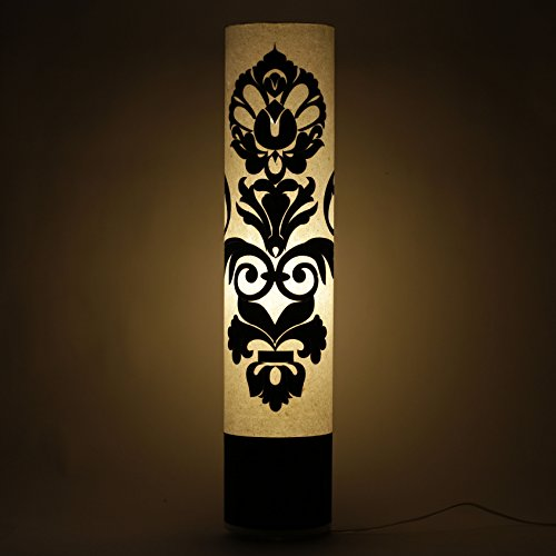 engineered-design-white-black-paper-shade-floor-lamp-home-bedroom-night-light