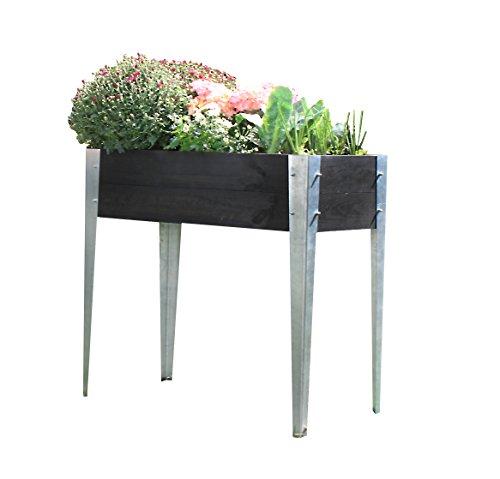 Eider Landgeräte GmbH Koll Living Jardinière surélevée/semis pour terrasse ou Balcon, 39 x 78 x 75 cm