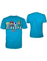 SUPER MARIO BROS - T-Shirt Super Mario : SMB Players Blue (L)