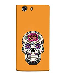 PrintVisa Floral Beautiful Skull 3D Hard Polycarbonate Designer Back Case Cover for Micromax Canvas Nitro 2 E311