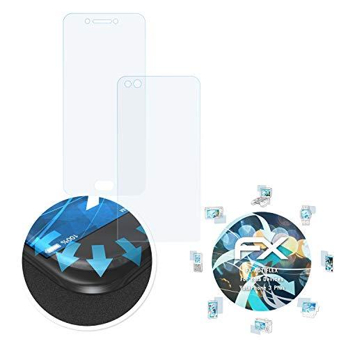 atFolix Schutzfolie passend für Yota Devices YotaPhone 3 Plus Folie, ultraklare & Flexible FX Bildschirmschutzfolie (3er Set)