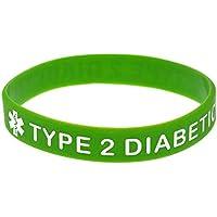 North King Pulseras de Silicona con Refranes 'Tipo 2 diabético' Advertencia Palabras para niños y Adultos Piezas del Set de - Comparador de precios