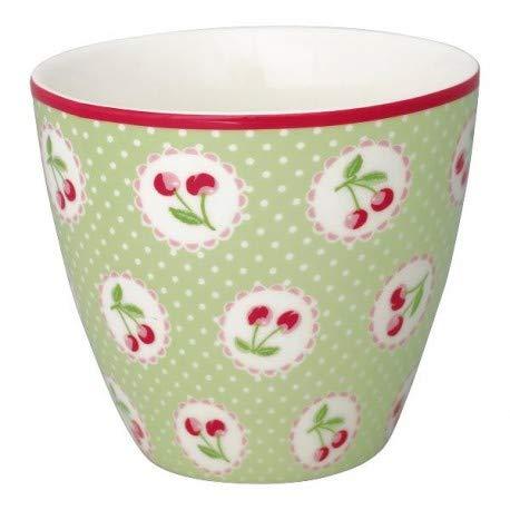 GreenGate- Latte Cup- Cherry Berry p. Green STWLATCHB0106 Green Latte Becher