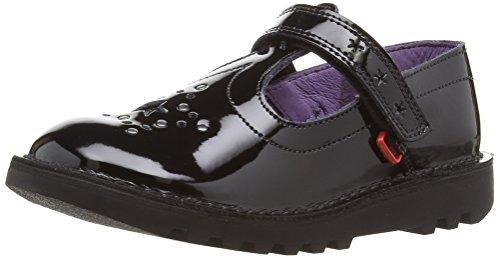 Kickers Mädchen Kick T Star J Mary Jane Halbschuhe Schwarz (Black Patent) 35 EU Patent Mary Jane Schuhe