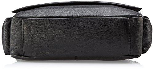 Bugatti James Sac à main pour homme Noir 36 x 27 x 10 cm (L x H x P), noir (Noir) - 495123-01 noir
