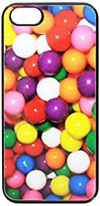 Graphics and More Gumballs Candy Snap-On Hard Protective Case for iPhone 5/5s - Non-Retail Packaging - Black