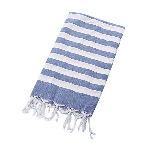 YA-Uzeun Strandhandtuch, türkische Baumwolle, Strandtuch, Sauna, Yoga, Fransen, Jacquard-Handtuch, 100 x 180 cm, J, 100x180cm (Avenger Handtuch-set)