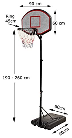 Panier Basket Exterieur - Panier de basket avec support mobile portable