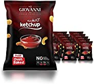 Giovanni Ketchup Flavor Potato Pufak Chips 35GM (Pack of 20)   Gluten-Free Chips   Oven Baked Chips   Healthy