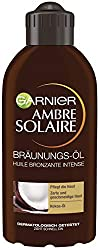 Garnier Ambre Solaire Deep Brown Tanning Oil, Self-Tanner with Coconut Oil, Tanning Accelerator, Sun Oil in Gold, 200 ml