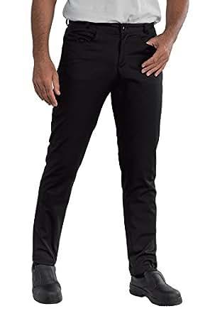 Isacco Pantalone Yale SLIM Nero, Nero, 44, 65% Poliestere 35% Cotone